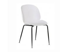 Jídelní židle, bílá/černá MENTA