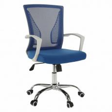 Kancelářské křeslo, modrá / bílá / chrom, IZOLDA