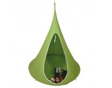 Závěsné houpací křeslo, zelená, KLORIN NEW KLASIK CACOON HAMMOCK