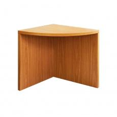 Rohový obloukový stůl, třešeň americká, OSCAR T5