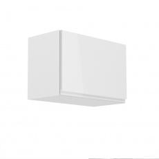 Horní skříňka, bílá / bílý extra vysoký lesk, AURORA G60K