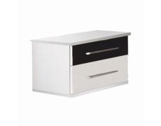 Noční stolek (2 ks), bílá / černá, Rublin