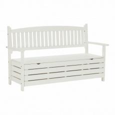 Zahradní lavička, bílá, 150cm, AMULA