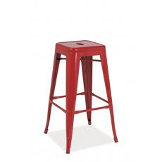 Barová židle LONG HOCKER ČERVENÁ