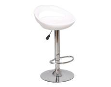 Barová židle, bílá / chrom, Dongo NOVE