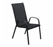 Židle, stohovatelná, tmavě šedá/černá, ALDERA