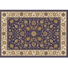 Koberec, tmavě modrá / mix barev / vzor, 133x190, KENDRA TYP 1