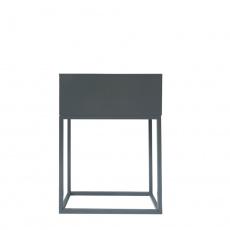 Multifunkční kovový květináč, tmavě šedá, INDIZE TYP 2