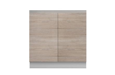 Skříňka dolní dvoudveřová, dub sonoma, LINE