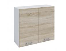 Horní skříňka, dub sonoma / bílá, FABIANA W - 80