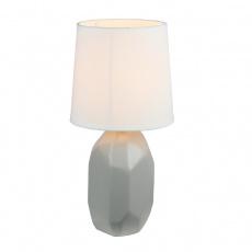 Keramická stolní lampa, šedá, QENNY TYP 2