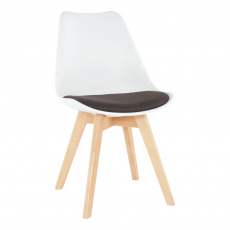 Židle, bílá/čokoládová, DAMARA