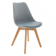 Židle, šedá / buk, BALI 2 NEW