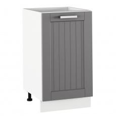 Spodní skříňka, tmavě šedá/bílá, JULIA TYP 54
