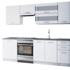 Kuchyňská linka 2,4m, bílá, FABIANA