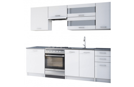Kuchyňská linka 2, 4m, bílá, FABIANA