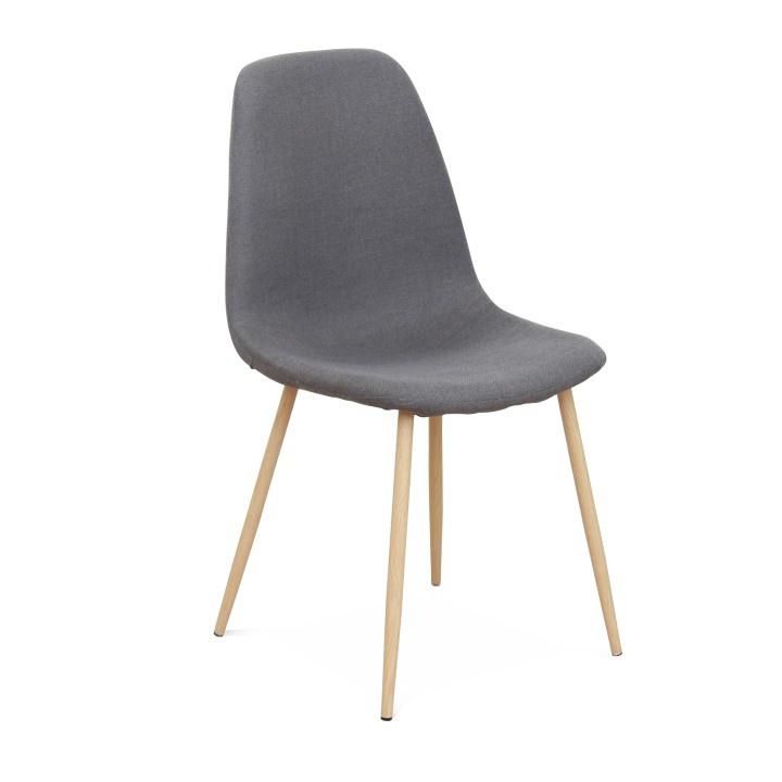 Židle, tmavě šedá/buk, LEGA