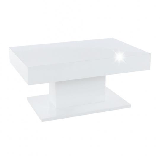 Konferenční stůl s úložným prostorem, bílá vysoký lesk, DIKARO