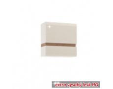 Visící skříňka, bílá extra vysoký lesk HG / dub sonoma tmavý truflový, LYNATET TYP 66