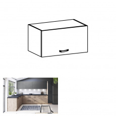 Horní skříňka, dub artisan, LANGEN G60KN