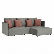 Univerzální sedací souprava, šedá/starorůžová, LENY ROH