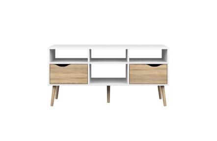 TV stolek / skříňka, dub sonoma/bílá, OSLO 75391