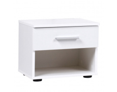 Noční stolek (2ks), bílá, Ikomo