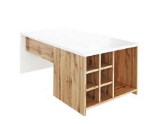 Konferenční stolek, bílá/dub wotan, DARAH