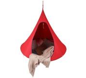 Závěsné houpací křeslo, červená, KLORIN NEW BIG SIZE CACOON HAMMOCK