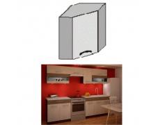 Horní rohová skříňka, rigolletto light / rigolletto dark / wenge, JURA NEW IA GN-58 * 58