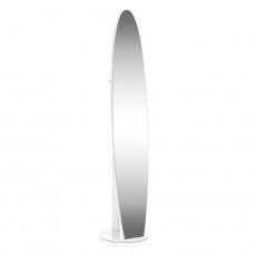 Stojanové zrcadlo, bílá, TARAN NEW