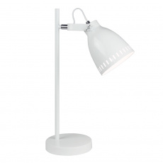 Stolní lampa, bílá / kov, AIDEN TYP 1