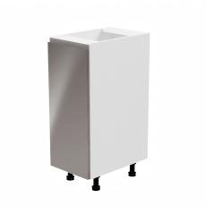 Spodní skříňka, bílá / šedá extra vysoký lesk, levá, AURORA D30