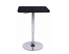 Barový stůl s nastavitelnou výškou, černá, 86-105, FLORIAN