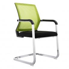 Zasedací židle, zelená / černá, RIMALA
