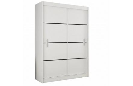 Skříň s posuvnými dveřmi, bílá / černá, Merina 150