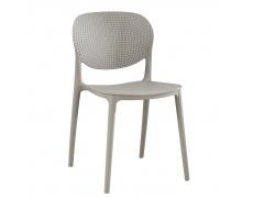 Stohovatelná židle, šedá, FEDRA