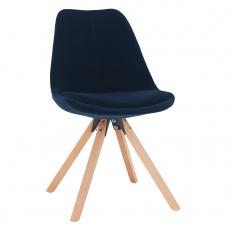 Židle, modrá Velvet látka/ buk, SABRA