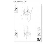 Jídelní židle H261 oranžová