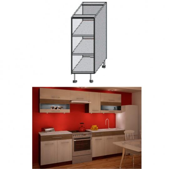 Spodní policová skříňka, rigolletto light / rigolletto dark / wenge, JURA NEW IA DO-20