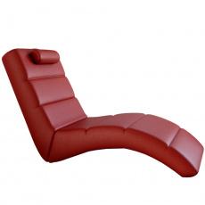 Relaxační křeslo, ekokůže červená, LONG