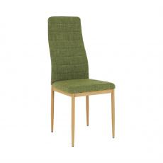 Židle, zelená látka / kov, COLETA NOVA