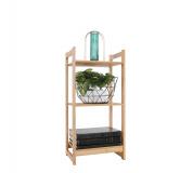 3-poličkový regál, přírodní bambus, IMPEROR TYP 1