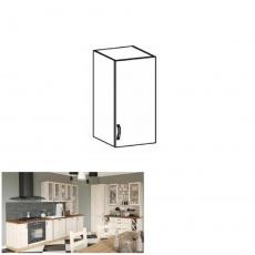 Horní skříňka, bílá / sosna skandinávská, pravá, ROYAL G40