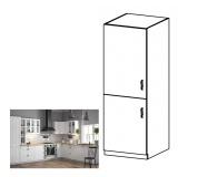 Skříňka na vestavěnou lednici D60ZL, levá, bílá / sosna Andersen, PROVANCE