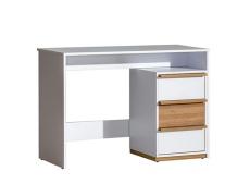 PC stůl, ořech select / bílá, KNOX E14