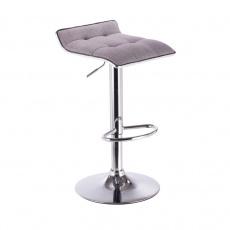 Barová židle, šedá / chrom, FUEGO