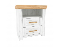 Noční stolek X, dub craft zlatý / dub craft bílý, SUDBURY