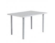 Jídelní stůl, bílá extra vysoký lesk, UNITA