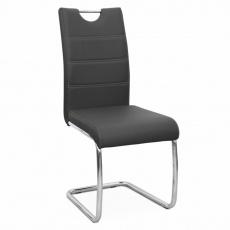 Židle Abira New, černá / světlé šití